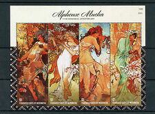 Micronesia 2014 MNH Alphonse Mucha 75 4v MS II Art Paintings Alfons Maria Stamps