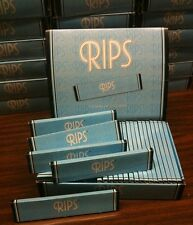 """FIVE Packs """"RIPS"""" King Size Extra Thin Cigarette Rolling Papers 110mm/32 leaves"""