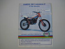 advertising Pubblicità 1986 MOTO FANTIC TRIAL 301 PROGRESS 2