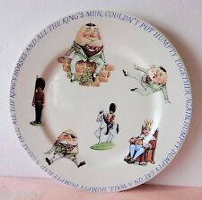 "Queen's India HUMPTY DUMPTY Child's China Plate Youth 7.75"" Nursery Rhyme NICE"