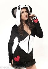 Snow Bunny Panda Care Bear Animal Fancy Dress Adult Halloween Costume 8 10 12