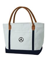Mercedes Benz Nautical Style Canvas Beach Tote Bag