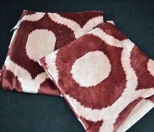 Pottery Barn Carmen Velvet Pillow Cover 18 x 18 Red S/2