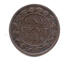 1884 Canada Large Cent-- Strong Hair & Crown Details !!