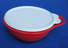 Tupperware Bowl & Lid - 6 cup Red Bowl, White lid - Tupperware 30560 + 2517C