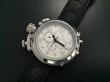 50mm Parnis Automatic Movement White Dial Black Mark Men's Watch