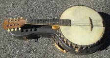 Vintage 1900s Fairbanks Vega Little Wonder Banjo Mandolin & Hardshell Case!