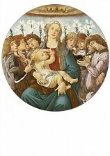 Postcard Sandro Botticelli Madonna  & Singing Angels State Museum Berlin