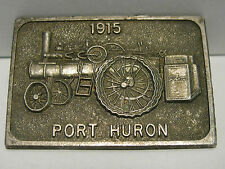 Port Huron Engine Thresher Co Steam Tractor Hat Lapel Pin Fob of Month 24  OLD!