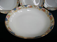 NORITAKE NIPPON- c.1912- COUPE SOUP BOWL(S)-FLORAL BAND-GREAT!! GILT!!