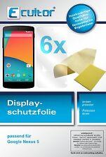 6x LG Google Nexus 5 Schutzfolie klar Displayschutzfolie Folie dipos