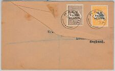 NEW GUINEA N.W. Pacific Islands -  POSTAL HISTORY - REGISTERED COVER to UK 1918