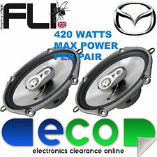 "Mazda MX5 MK2 98-05 FLI 6""x8"" 420 Watts 3 Way Replacement Door Speakers Pair"