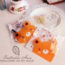 20X Funny Lovely Bear Birthday Wedding Cello Candy Cookies Treat Party Gift Bags