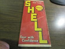 SHELL ROAD MAP - NEW YORK - TOUR WITH CONFIDENCE - 1930'S