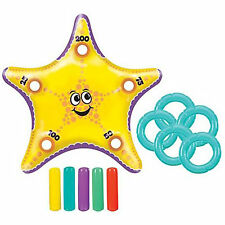 "29"" Tropical Luau Hawaiian Summer BBQ Party Inflatable Starfish Ring Toss Game"