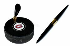 Montreal Canadiens NHL Hockey Puck Desk Pen Holder Awesome Gift For A Hockey Fan