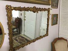"""Serge-Roche Style Mirror- Gilt Plaster- 32"""" x 22"""""""