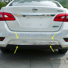 New Chrome Rear Bumper Cover Trim for Nissan Sentra 2016