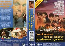 WHERE THE DAY TAKES YOU - Sean Astin - VHS -PAL -NEW -Never played!! - Very rare