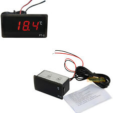 12V Vehicle Digital Thermometer Car Indoor Outdoor LED Temperature Meter Probe