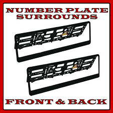 2x Number Plate Surrounds Holder Black ABS for Smart Roadster
