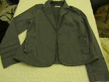 Ladies Battleship Grey 100% Cotton Ben Sherman Size Medium 10 / 12 Jacket - NWOT