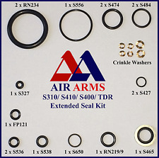 AIR ARMS ORING SEAL KIT S410, S400, S310,TDR, MPR EXTENDED & CRINKLE WASHERS