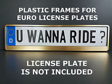 Frame Holder For Euro License Plate VW BMW Saab Mercedes Benz HP gold