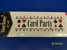 Card Party Casino Night Poker Bridge Theme Banquet Giant Plastic Sign Banner *