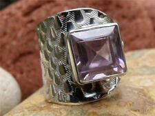 HANDCRAFTED 925 SILVER RING FREE SIZE PINK TOPAZ SILVERANDSOUL JEWELLERY
