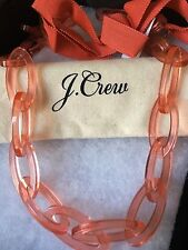 NWT J Crew Long Oval Link WARM RUST Necklace With Dust Bag