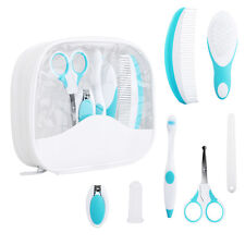 7PCS NEWBORN BABY HEALTHCARE GROOMING KIT SET NAIL CLIPPER HAIR BRUSH W/ CASE