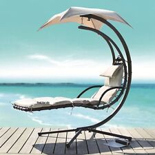 Helicopter Swinging Sun Lounger Hammock Chair Swing Seat Cushion Garden Bench