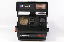 Polaroid SUPERCOLOR 670 AF instant camera for 600 film tested ref. 124161 dlmntn