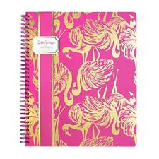 Lilly Pulitzer - Spiral Notebook - Gimme Some Leg - Gold Foil Flamingo