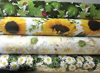 Vinyl PVC Tablecloth Wipe Clean Roses Flowers Lady Birds Oilcloth 140cm wide