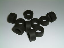 10 Rubber (Neoprene) Washers 16mm O/D X 9.3mm I/D X 7.2mm Thk