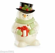 Lenox Snowman Holiday Cookie Jar Limited Edition NEW IN BOX