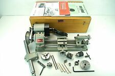 VINTAGE UNIMAT AUSTRIA MINI LATHE CAST IRON Model No.DB-200 (Red Badge).