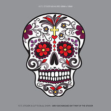 SKU1123 - Day Of The Dead - Calavera - Sugar Skull - Flower - Decal/Sticker