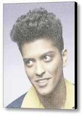 Bruno Mars UpTown Funk Song Lyrics WOW Mosaic Framed Print Limited Edition
