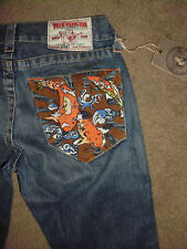 TRUE RELIGION Men's BOBBY NWT 30 x 33 Tategoi Fish Pocket wash Rock Jeans