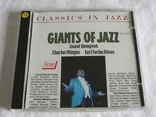 CD GIANTS OF JAZZ - LIONEL HAMPTON / CHARLES MINGUS / EARL FATHA HINES