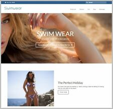 "Fully Stocked Dropship SWIMWEAR Website Business. High Margin ""300 Hits A Day"""