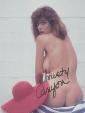 Christy Canyon Porn Star Legend (NUDE) NO PANTIES EXTREMELY RARE SIGNED RP 8x10