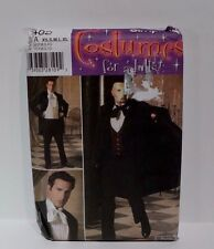 Simplicity 4482 Men's Phantom of the Opera Suit Cape Vest Costume Pattern XS-XL