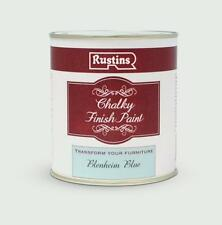 Rustins Chalky Finish 250ml Blenheim Blue Chalk Paint, Shabby Chic
