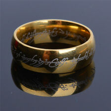 The One Ring Lotr Titanium Steel Lord of the Rings Fashion Men's Ring Size 6-13
