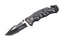 Snake Eye Tactical US Navy Rescue Style Action Assist Folding Knife 4.5""